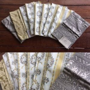 9pcs Yellow & Gray Fabric Crafting Bundle